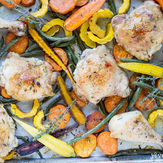 Easy Sheet Pan Chicken with Roasted Vegetables Recipe