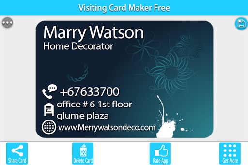 Visiting Card Maker Free 1.4 screenshots 5