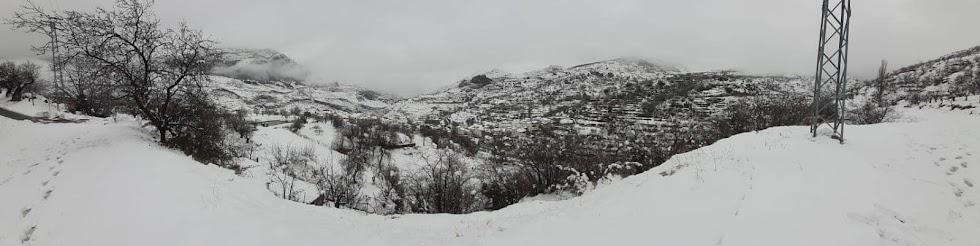 Bellísima estampa nevada de Bacares