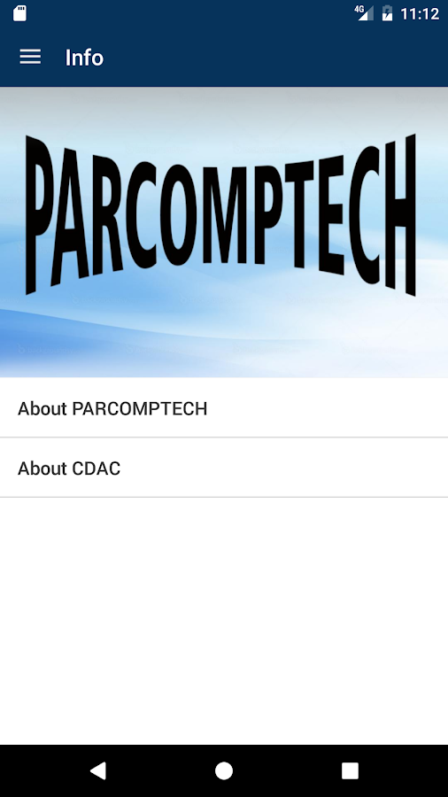 PARCOMPTECH- screenshot