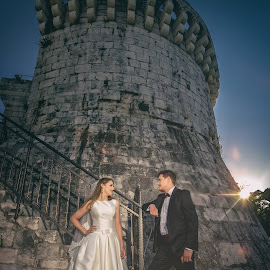 by Zeljko Marcina - Wedding Bride & Groom ( love, wedding, croatia, split, bride, groom )
