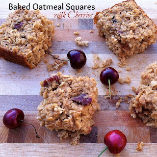 Baked Oatmeal Squares with Cherries*