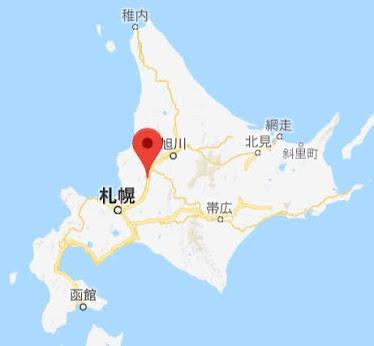 地図:ハウスヤルビ奈井江
