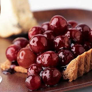Port-Glazed Grape Tarts With Pecan Crust.