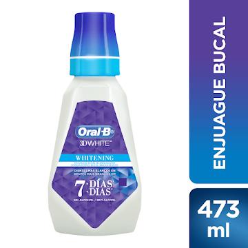 Enjuague bucal ORAL-B 3D   White Brilliant Fresh Sin Alcohol x473Ml
