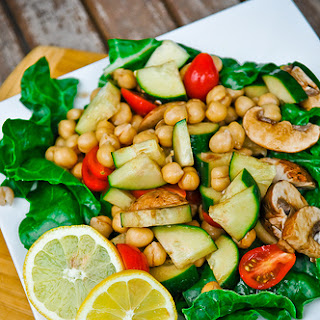 Chickpea and Cucumber Salad.