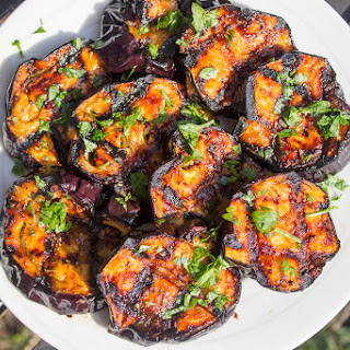 Sweet & Tangy Grilled Eggplant Recipe