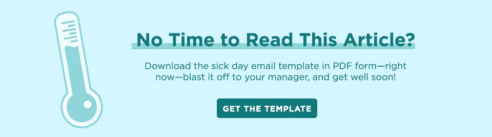 How to Write a Sick Day Email (+ a Template) | Career Contessa