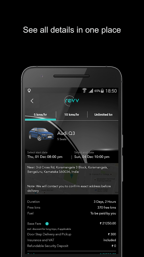Revv - Self Drive Car Rental- screenshot