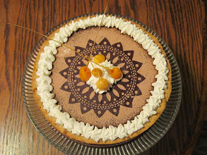 Photo: Caramel and Chcolate Macadamianut Pie with cream and Carmelized Nuts!!!!!