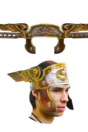 Papphjälm, romersk eagle brons