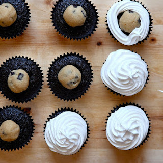 Chocolate, Peanut Butter Cookie Dough, Toasted Marshmallow Cupcakes