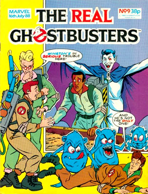 July 16 1988 THE REAL GHOSTBUSTERS 9 SPENGLERS SPIRIT GUIDE PART MARVEL UK Crosses Doctor Who Thundercats Combat Colin Others See Notes