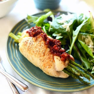 Prosciutto Asparagus Stuffed Chicken Breast.