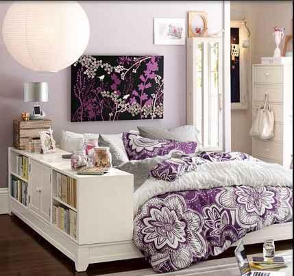 女孩紫色臥室想法