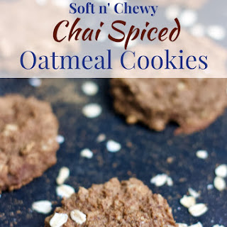 Soft n' Chewy Chai Spiced Oatmeal Cookies.