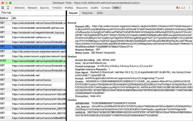 SAML DevTools extension