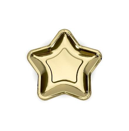 Assietter Stjärna, guld