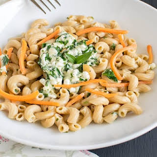 Cottage Cheese Spinach Pasta.