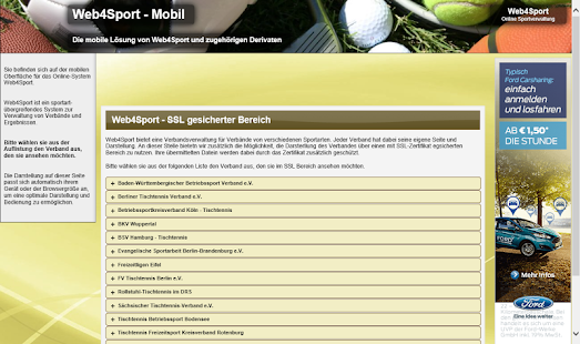 Web4Sport- screenshot thumbnail