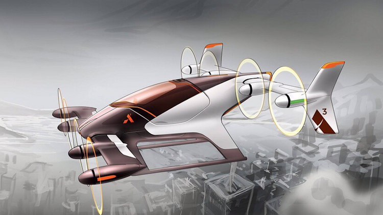 An illustration of the flying car concept. Picture: AIRBUS