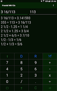 "Fraction Calculator ""Fractal MK-12"" Screenshot"