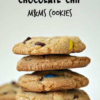 Crispy, Chewy Chocolate Chip M&M's Cookies