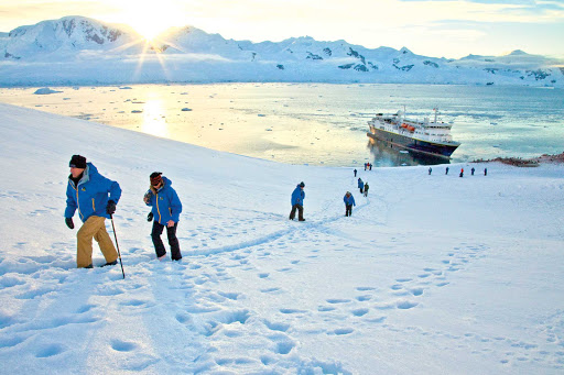 Lindblad-Expeditions-Antarctica-hiking.jpg -  Go on an action-packed hike of Neko Harbor, Antarctica, during a Lindblad expedition.