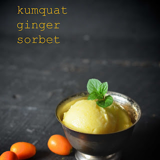 Kumquat Ginger Sorbet