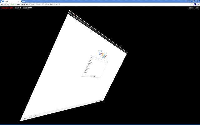 Transform Web page in 3d Beta