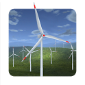 Wind Turbines 3D icon