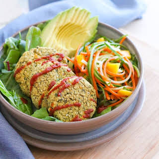 Baked Green Curry Falafels.