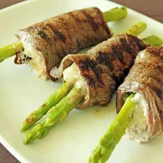 Grilled Asparagus Beef Rolls.