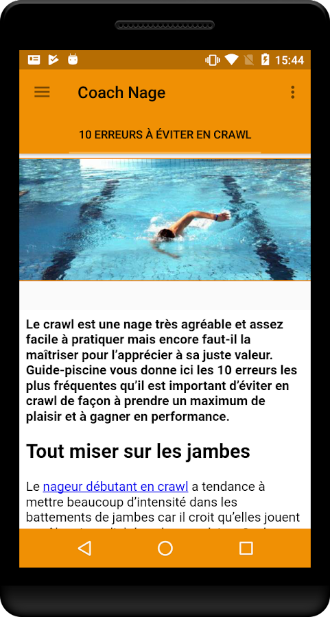 Coach Nage & Piscine- screenshot