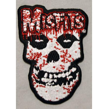 Misfits - Bloodstaind Skull - Tygmärke