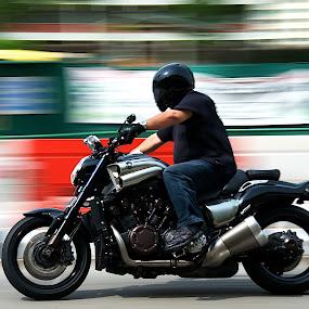 Motorcycle Panning by Samson Calma - Transportation Motorcycles ( panning, motorcycle )