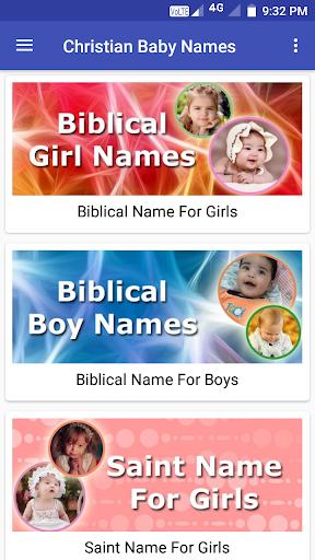 Christian Baby Name Collection screenshot