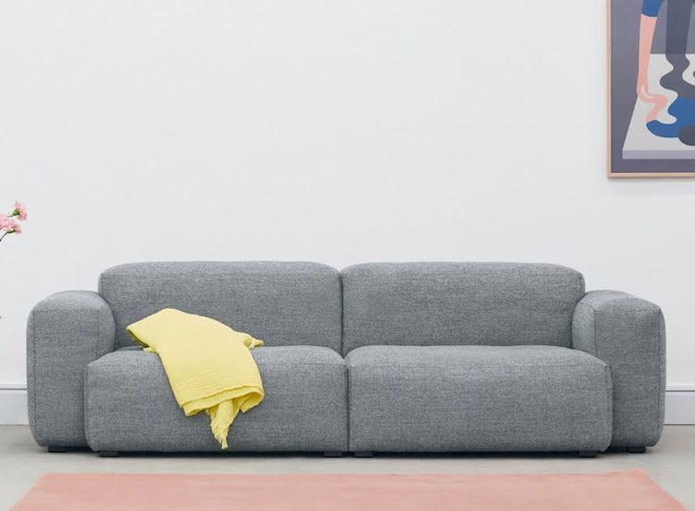 Mags soft 2,5-soffa, lågt armstöd