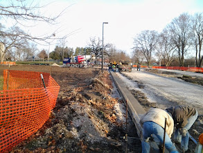 Photo: Pouring of curbed entrance drive 11-14-2013
