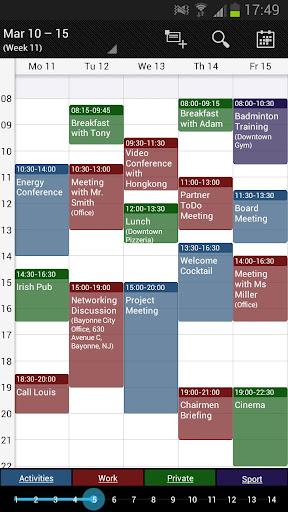 Business Calendar Beta screenshot 2