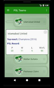 Score & Info of PSL - náhled