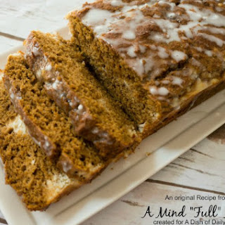 Whole Wheat Pumpkin Bread with Maple Spiced Cream Cheese Filling