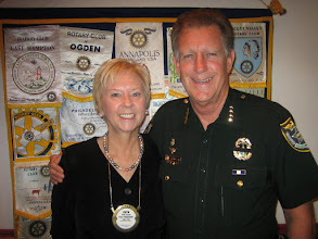 Photo: Program Chair Ruth Swanto and Sheriff Ben Johnson - July 8, 2008