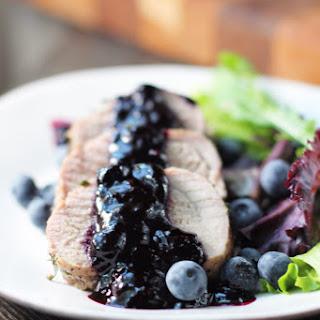 Pork Tenderloin with Blueberry Sauce.