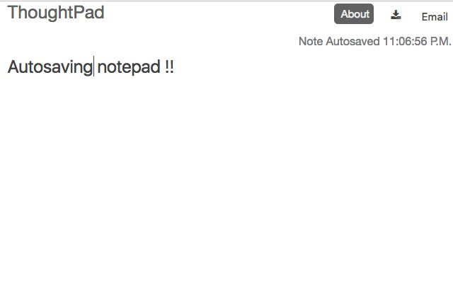 ThoughtPad - Autosaving Online Notepad