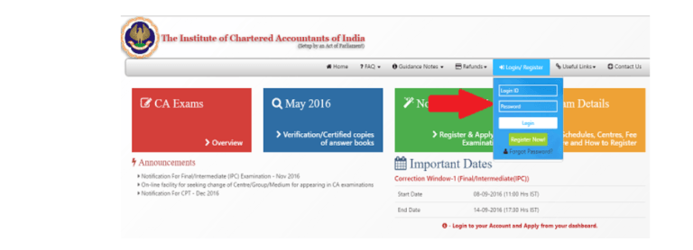 How to download CA foundation admit card, ICAI ca foundation admit card