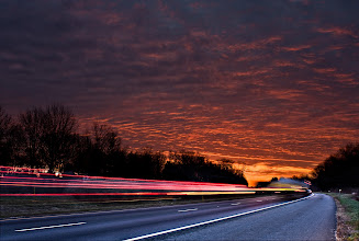 Photo: Full-Speed toward the End of the World | Early morning traffic on I-70 in Maryland under a wild sunrise © 2011 Ryan Lynham