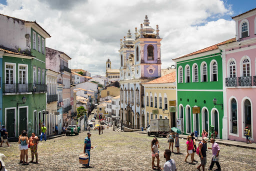 Stroll the streets of Salvador de Bahia, Brazil on your next Ponant cruise.