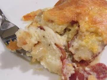 Fluffy Oven Eggs and Bacon