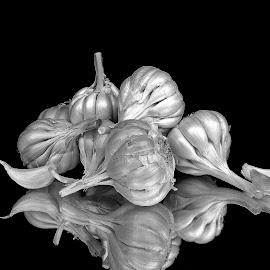 Garlics by Asif Bora - Black & White Objects & Still Life (  )